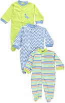 """Luvable Friends Dino Adventure"""" 3-Pack Footed Coveralls"""