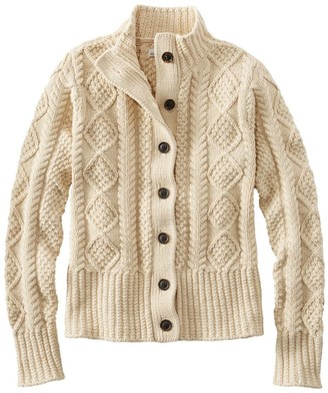L.L. Bean Women's Signature Cotton Fisherman Sweater, Short Cardigan