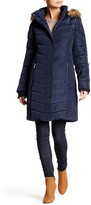 Tommy Hilfiger Faux Fur Trim Quilted Jacket