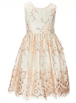 Jayne Copeland Little Girls 2T-6X Sequin Embroidery Lace Dress