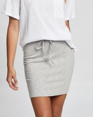 Atmos & Here Atmos&Here - Women's Grey Mini skirts - Livvy Mini Skirt - Size 6 at The Iconic