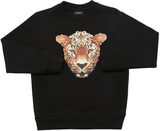 Marcelo Burlon County of Milan Tiger Print Cotton Sweatshirt