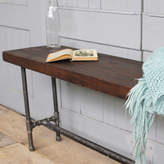 MöA Design Industrial Wood And Steel Pipe Bench