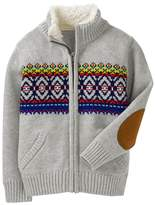 Crazy 8 Fair Isle Zip Sweater