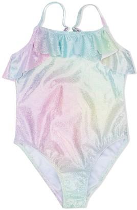 Billieblush Iridescent Effect Swim Suit