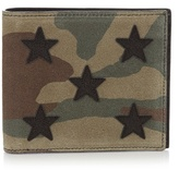 Saint Laurent Camouflage-print Bi-fold Suede Wallet