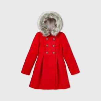 Cat & Jack Girls' Faux Fur Trim Jacket - Cat & JackTM