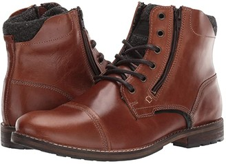 Steve Madden Bayun Boot (Cognac Leather) Men's Shoes