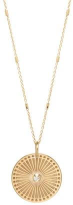 Zoë Chicco 14K Yellow Gold & Diamond Small Sunbeam Medallion Necklace
