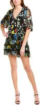 Alice + Olivia Pauline Silk-Blend Tunic Dress