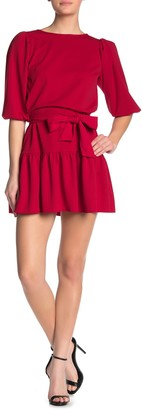Love...Ady Elbow Sleeve Ruffle Hem Mini Dress