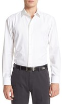 Armani Collezioni Men's Trim Fit Texture Woven Sport Shirt