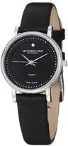 Stuhrling Original Women's 734L.02 Classic Ascot Castorra Elite Ultra Slim Diamond Leather Strap Watch