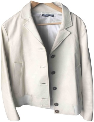 Hogan White Leather Leather Jacket for Women