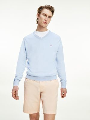 Thumbnail for your product : Tommy Hilfiger Organic Cotton Silk V-Neck Jumper