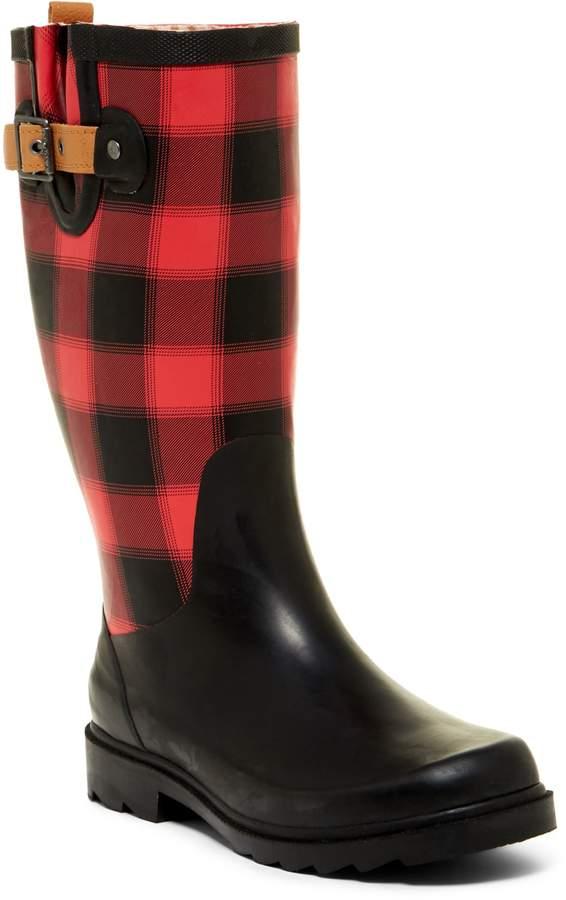 Chooka Lumber Buffalo Plaid Waterproof Rain Boot