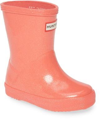 Hunter Kids First Classic Starcloud Glitter Rain Boot