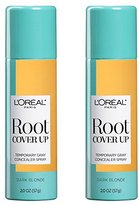 L'Oreal Hair Color Root Cover Up Hair Dye, Dark Blonde, 2 Ounce (Pack of 2)