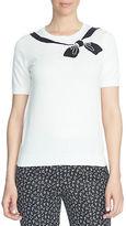 CeCe Bow-Printed Short Sleeve T-Shirt