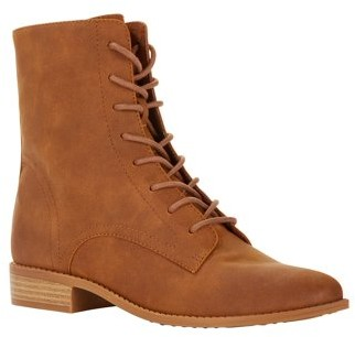 Melrose Ave Vegan Suede Prairie Lace Up Boot (Women's)