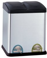 Organize It All Stainless Steel Step-On 8-Gallon( 30liter) Recycle Bin