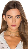 Natalie B x REVOLVE Lexington Choker in Metallic Gold.