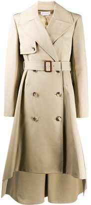 Alexander McQueen Button-Front Trench Coat