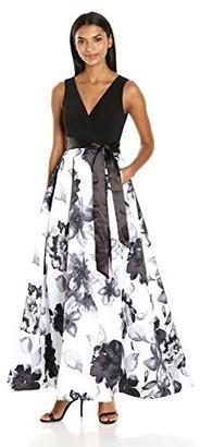 Chetta B Women's Floral Print Gown