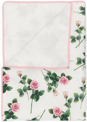 Dolce & Gabbana Rose Print Blanket