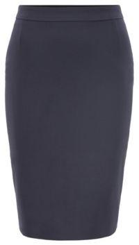 HUGO BOSS Stretch Wool Slim Fit Pencil Skirt - Black