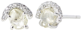 "Diamond in the Rough Rough Diamond Stud Earrings ""Champagne Bubbles"""