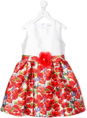 Lula Abel & poppy print midi dress
