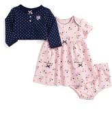 Little Me Infant Girl's Dress & Cardigan Set