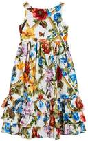 Dolce & Gabbana Ruffle Trim Floral Dress