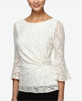 Alex Evenings Petite Embellished Lace Top