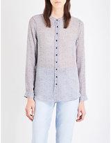 MiH Jeans Evelyn floral-print silk-georgette shirt