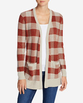 Eddie Bauer Women's Christine Boyfriend Cardigan Sweater - Plaid