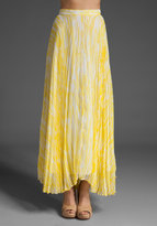 Shannon Printed Maxi Pleated Skirt