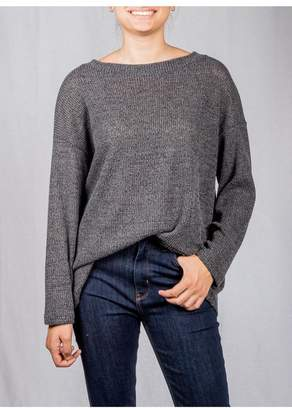 Jolie Open-Back Knit Sweater