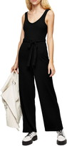 Topshop Ribbed Slouch Sleeveless Jumpsuit