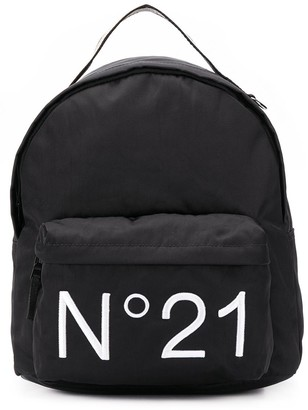 No.21 Kids logo print backpack
