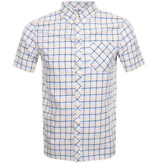 Fred Perry Short Sleeved Gingham Shirt Yellow