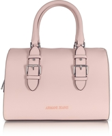 Armani Jeans New Light Pink Eco Leather Satchel Bag