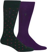 Polo Ralph Lauren Men's 2-Pk. Dotted Foulard Socks