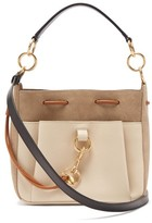 See by Chloe Tony Medium Suede And Leather Bucket Bag - Womens - Grey Multi