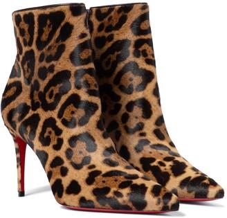 Christian Louboutin So Kate 85 calf hair ankle boots