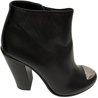 Neil Barrett Black Leather Ankle boots