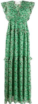 BA&SH Samanta tiered floral dress