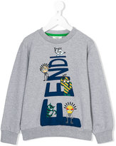 Fendi printed sweatshirt - kids - Cotton/Spandex/Elastane - 4 yrs