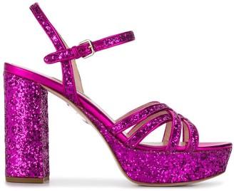 Miu Miu sparkle heeled sandals